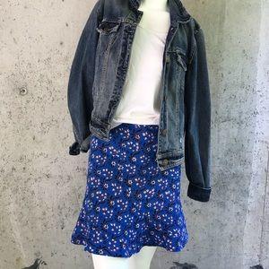 Scollop Jcrew floral skirt